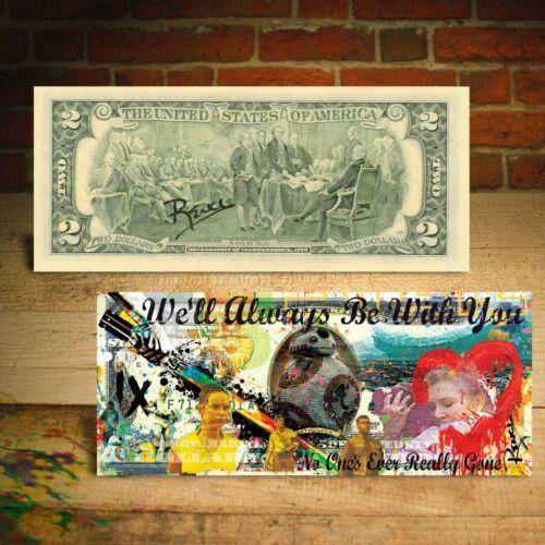 RISE OF SKYWALKER - STAR WARS $2 U.S. Bill Banksy Pop Art HAND-SIGNED by Rency