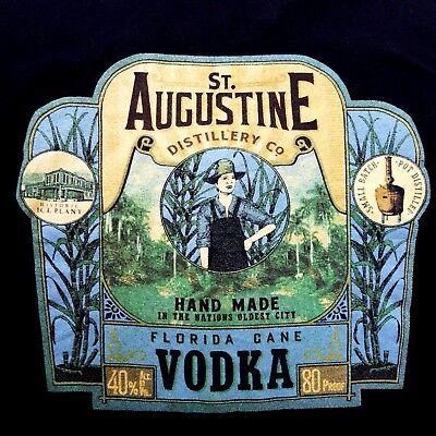St Augustine FL Distillery Co Hand Made Florida Cane Vodka Mens 3XL T Shirt