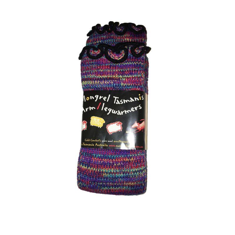 Luxury Rainbow Pink Soft Warm Merino Wool Arm Leg Warmers From Tasmania