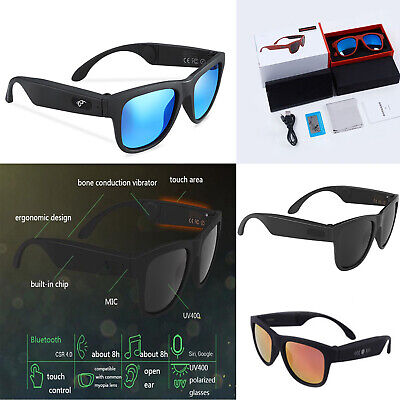 Bluetooth Speak Sunglasses Polarized Bone Conduction Stereo Headset Sonnenbrille