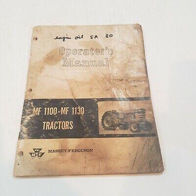 Massey Ferguson Mf1100 Mf1130 Tractor Operators Manual Book