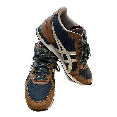 RARE Asics Onitsuka Tiger Saiko Runner Retro Brown/Khaki Trainers UK 8.5 EU 42.5