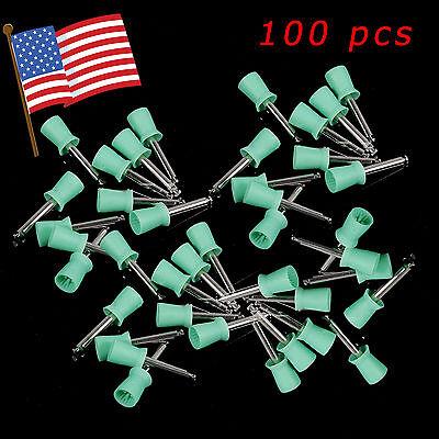 100usa Dental Teeth Prophy Polish Polishing Cup Brush Latch E-type Rubber Soft