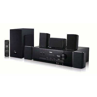 Home Theater Speaker System Bluetooth Surround Sound Black Bundle 1000 Watt Kit