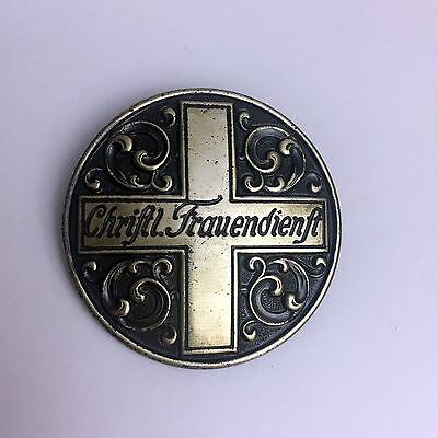 Brosche / Anstecknadel - Christlicher Frauendienst, 800er Silber