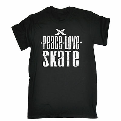 Peace Love Skate T-SHIRT skateboard board accessories gear funny birthday gift