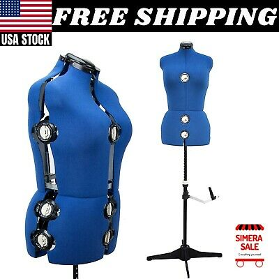 Adjustable Mannequin Dress Form Large Size Torso Female Tailor Sewing Seamstress