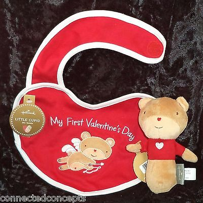 - My First Valentine's Day Little Cupid Infant Bib and Bear Rattle from Hallmark