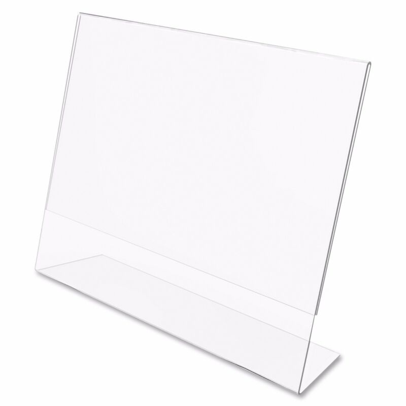 "Dazzling Displays 100 Acrylic 6"" x 4"" Slanted Picture Frame Holders"