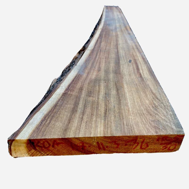 "Koa Slab 1.8""x 11""-3""(tapers)X 36"" Live edge Hawaiian Acacia 8/4 Straight Grain"