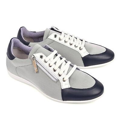 Versace Collection Men's Poly Grey/ White Sneaker W/Zipper EU 40-46 US 7-13 NEW