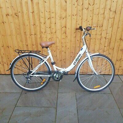 "White ECOSMO 26"" Folding Shopper/City Bike with 7 gears"