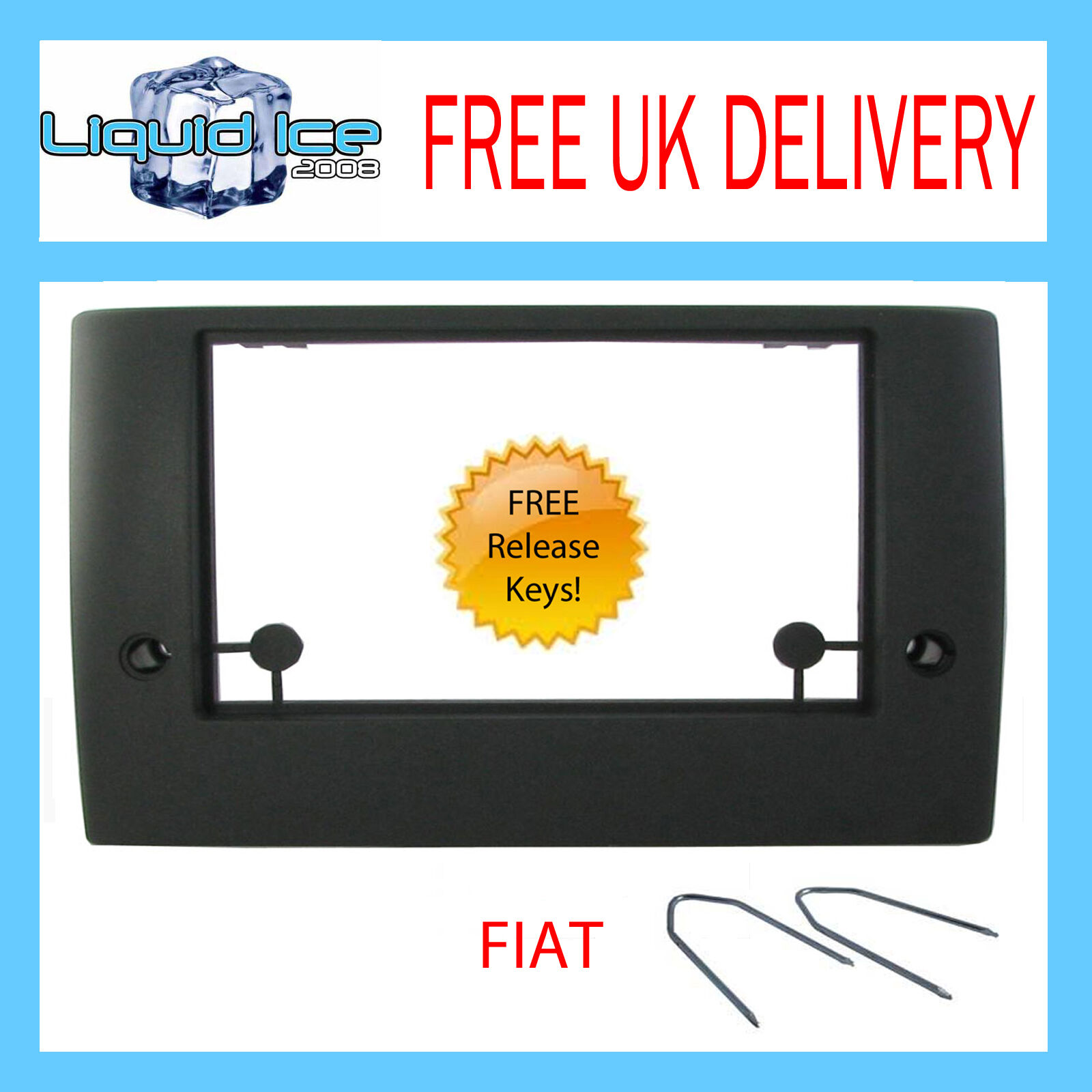 CT24FT13 Double Din CD Stereo Surround Fascia Panel For FIAT Stilo