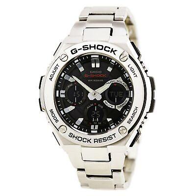 Casio Men's GSTS110D-1A G-Shock Solar Powered Ana-Dig Steel Bracelet Dive Watch