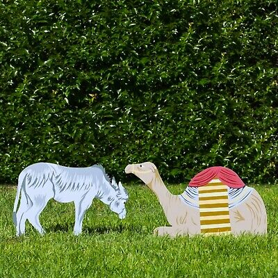 Outdoor Nativity Store Outdoor Nativity Set Add-on - Donkey and Camel (Color)
