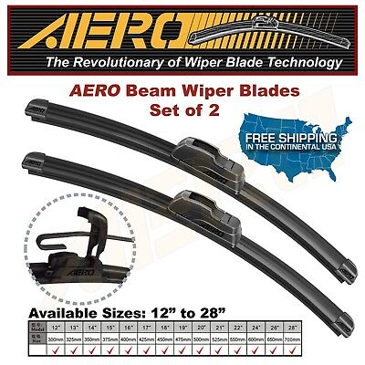 AERO 26  18 OEM Quality Beam Windshield Wiper Blades Set of 2