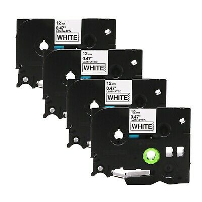 4-Pk/Pack TZe231 TZ231 Black/White Label Tape For Brother P-Touch PT-D210 12mm segunda mano  Embacar hacia Mexico