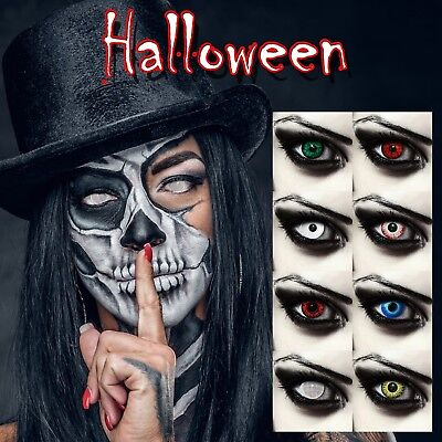 Scary colored contacts for Halloween cosplay costume vampire white zombie (Scary Halloween Zombies)