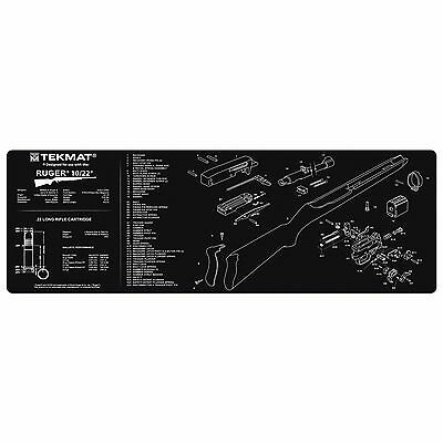 "For Ruger 10/22 Rifle Tek Mat Gun Cleaning Mat 12""x36"" with Parts Schematic"
