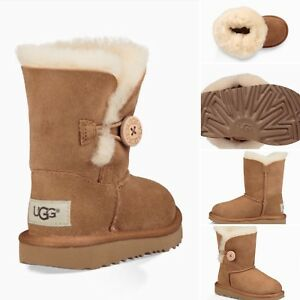 UGG Australia Toddlers' Bailey Button Boot Sheepskin Chestnut