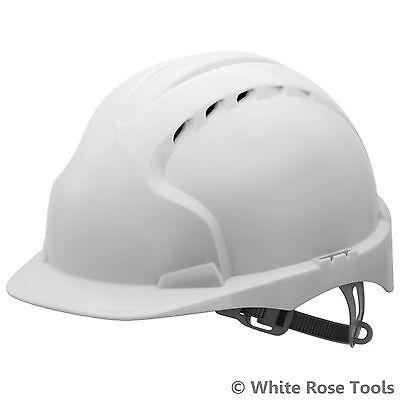 JSP White Evo2 Vented Safety Helmet Hard Hat Standard Peak Builders Work PPE