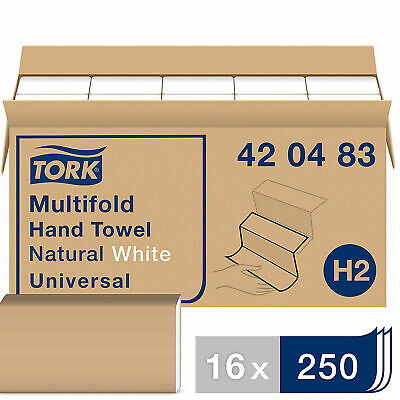 Tork Universal 250 Count Multifold 1 Ply Extra Soft Hand Towel Refill 16 Pack