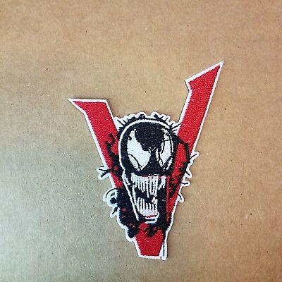 Spider-Man Venom V Logo Aufnäher 8.9cm Hoch
