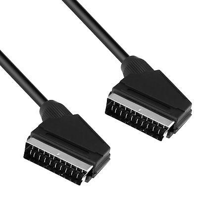 mumbi Scartkabel 21-polig belegter Scartstecker 1,40 Meter Kabel  in schwarz