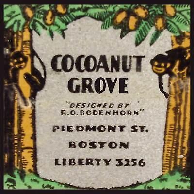 Cocoanut Grove Night Club Boston Fridge Magnet