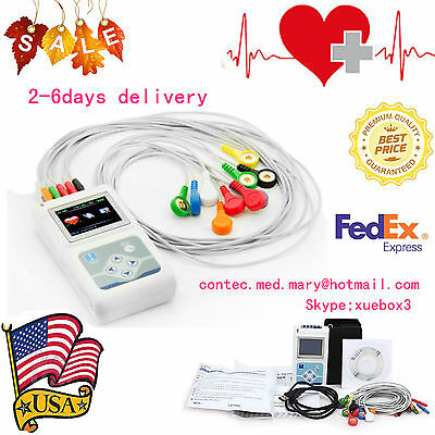 12 Channel Ecg Holter Ecgekg 24h Holter Ekg Monitor Softwaretlc5000us Seller