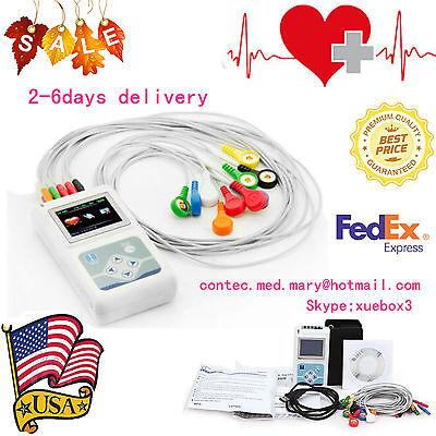 Us Sellertlc5000 12 Channel Ecg Holter Ecgekg 24h Holter Ekg Monitor Software