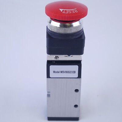 52 Way Pneumatic Valve With Emergency Push Button With Lock 14 Npt Msv86522eb