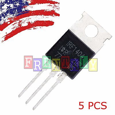 5 Pcs 5x Mosfet Transistor Ir To-220 Irf1404 Irf1404pbf Us Ship