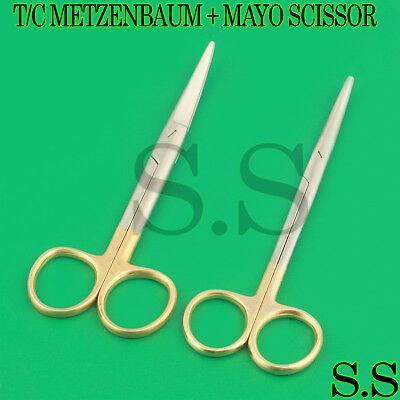 2 Ea Surgical Operating Medical Mayo Metzenbaum Scissors Curved 6.75