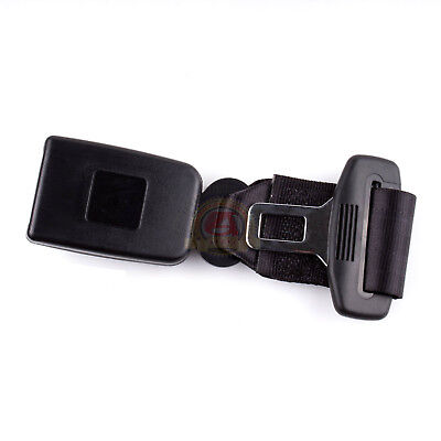 "9'' Car Seat Seatbelt Adjustable Safety Belt Extender Extension 7/8""Buckle Black"