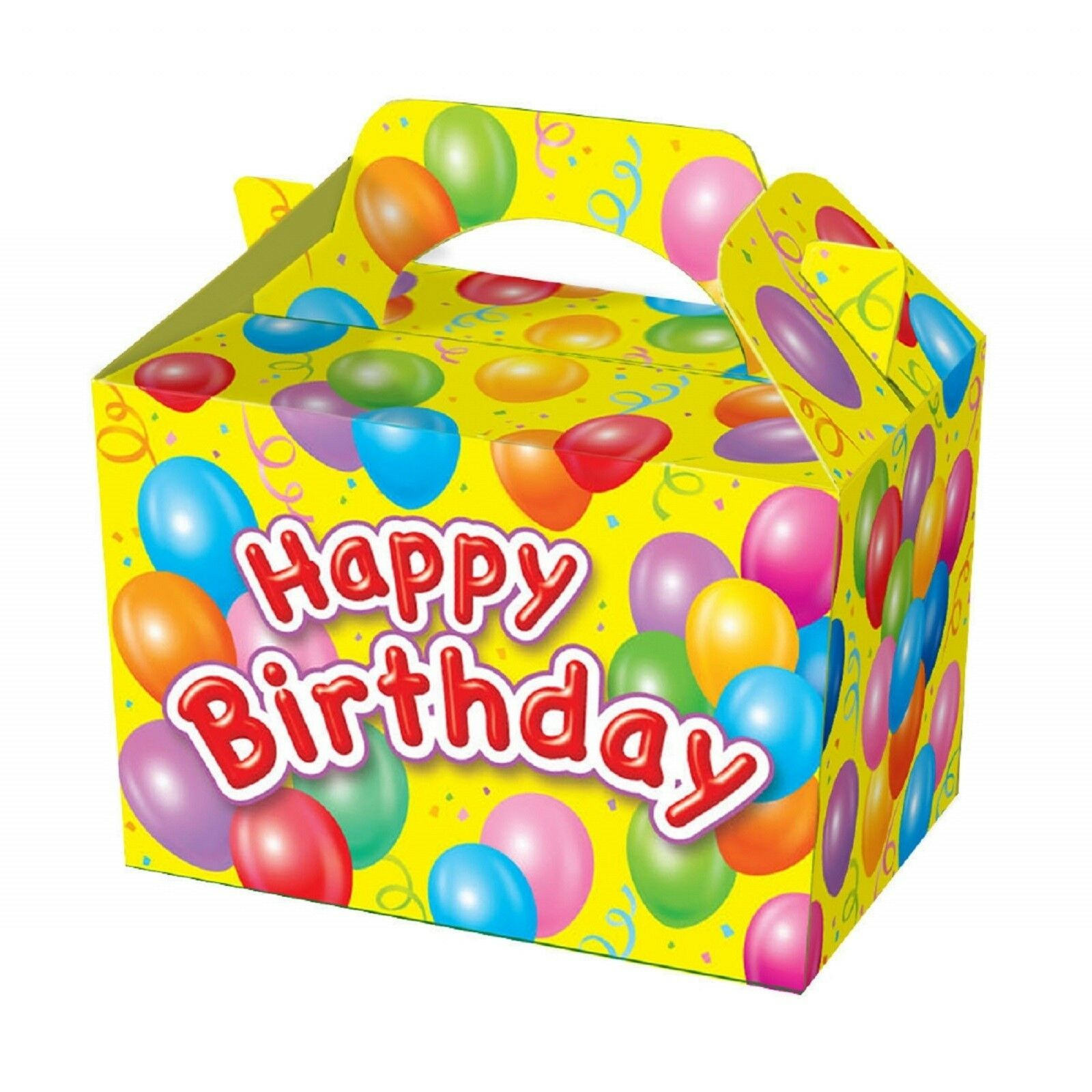 Happy Birthday Balloon Food Box Party Birthday Lunch Snack T
