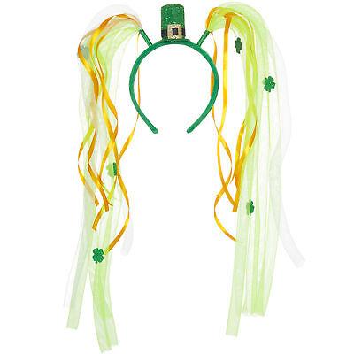 St. Patricks Day Haarreif Schleife Hut Karneval Kostüm Accessoires Irland Party ()