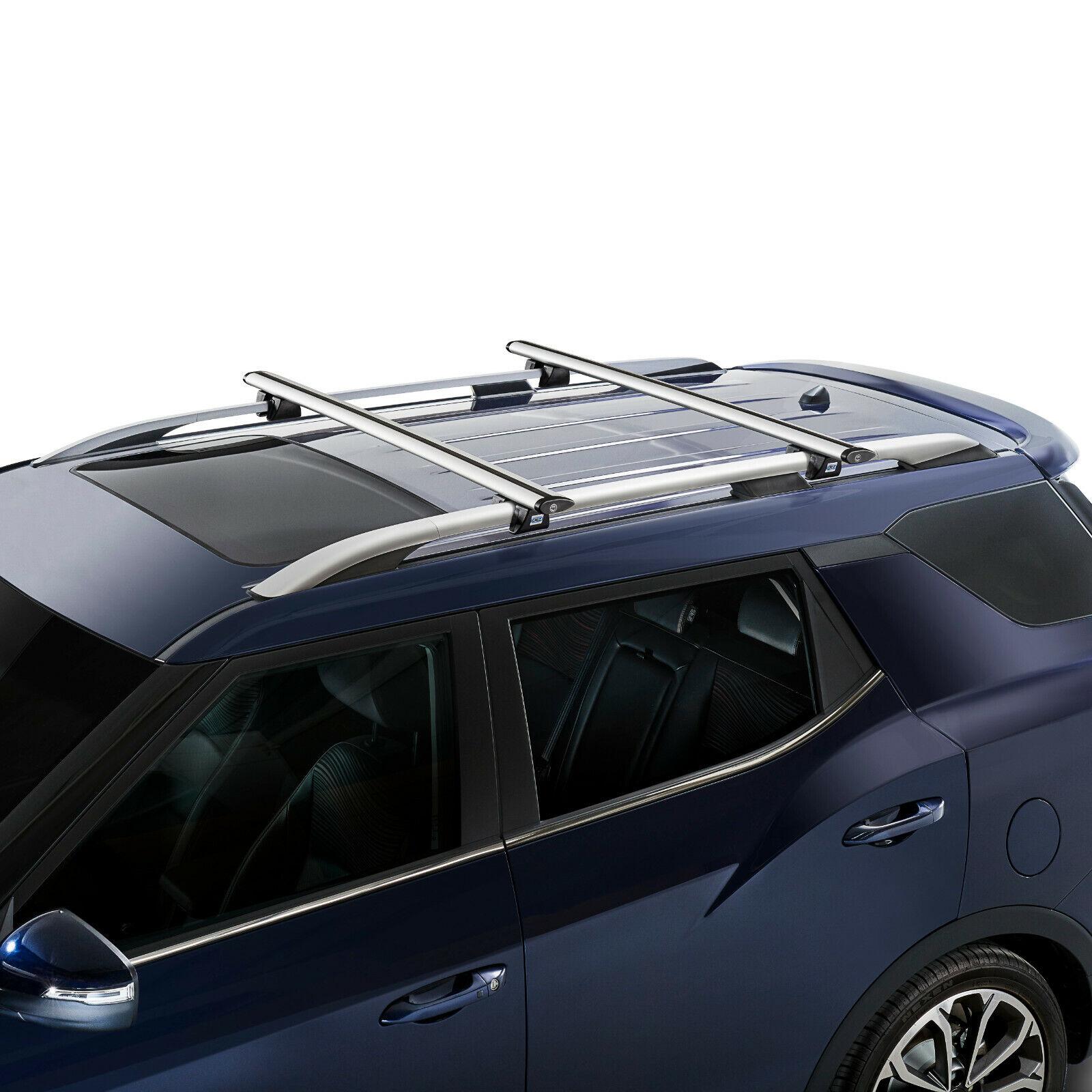 Dachträger CRUZ Airo Alu 2Träger für VW Caddy mit Dachreling Bj 2015