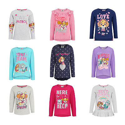 Girls Paw Patrol Long Sleeve T-Shirt Tops