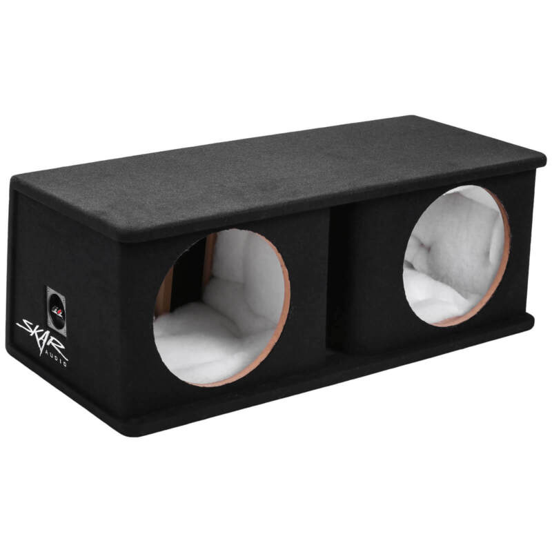"SKAR AUDIO DUAL 12"" PORTED SUBWOOFER ENCLOSURE - 4.00 FT^3 @ 32 HZ 