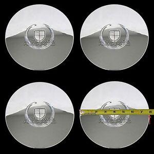 4 New Cadillac Escalade Chrome Wheel Center Hub Caps 6 Lug Rim Lug Cover Hubs KC