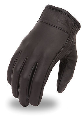 Milwaukee Leather Men's Cruiser Motorcycle Riding Glove w/ Stretch & Gel Palm  Ride Stretch Gloves