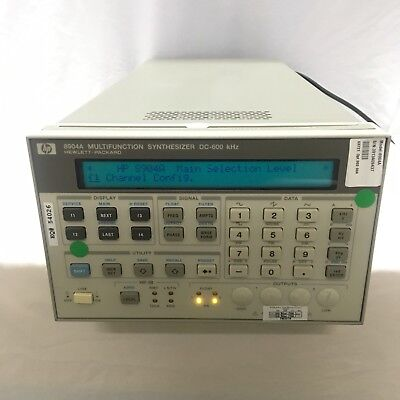Hpagilent8904a Multifunction Synthesizer Dc-600 Khz Opt.002 004