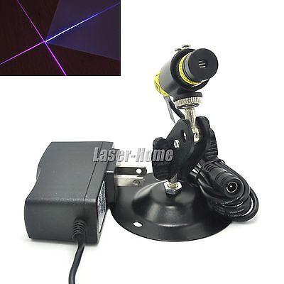 405nm 20mw Blueviolet Focusable Cross Laser Diode Module 5v Adapter Holder