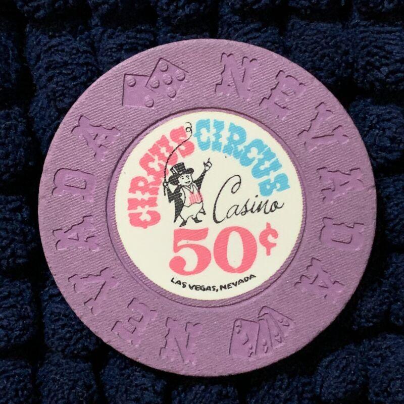 Circus Circus Hotel Las Vegas 50 Cent Casino Chip