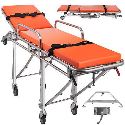 Emergency Medical Stretcher Ambulance Automatic Loading Gurney Rotating Casters