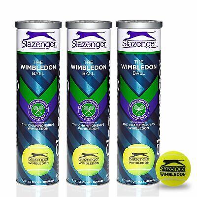 Slazenger Wimbledon ITF Approved High Visibility Tennis Balls - 1 Dozen