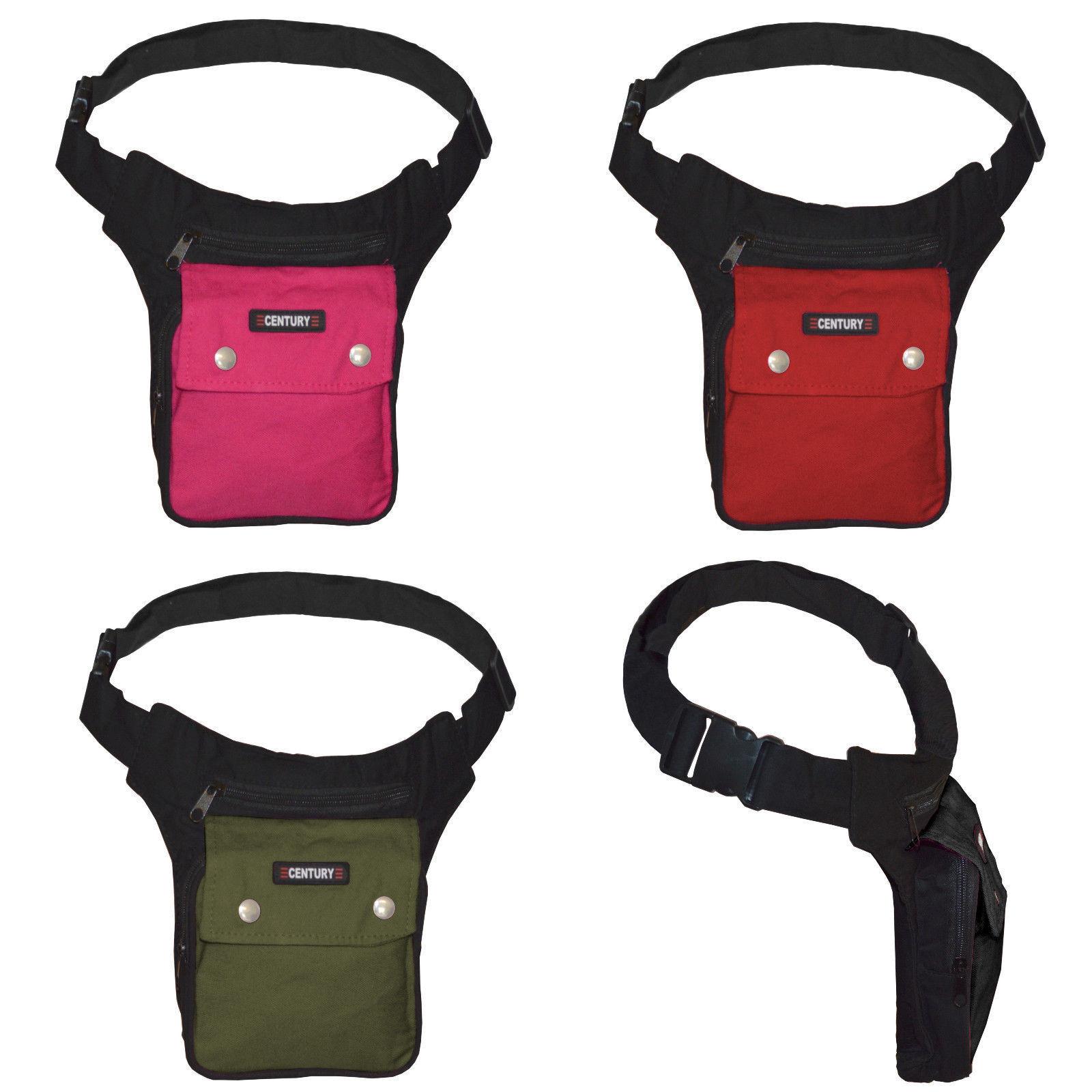 Gürteltasche Sidebag Bauchtasche 3-Fächer Stoff Umhängetasche