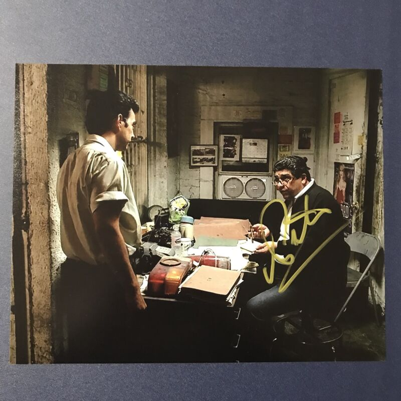 VINCENT PASTORE SIGNED 8x10 PHOTO ACTOR AUTOGRAPHED THE SOPRANOS BIG PUSSY COA