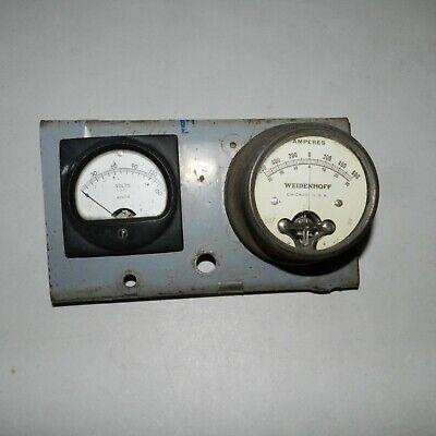 Weston Model 301-57 Volts Panel Meter Amperes Weidenhoff 217 Rare